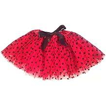 """Falda de tul """"Lucy"""" para niñas - Falda de ballet con puntos y lazo - Tutú Enagua - en varios colores - Talla única"""