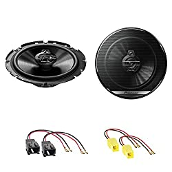 Pioneer TS-G1730F 2-Wege Koaxial Lautsprecher System Einbauset für Citroen C2 C3 Pluriel C4 C5 C8 vordere Türen