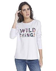 Vero Moda Womens Cotton Sweatshirt (10173354_Lavender Blue_Large)