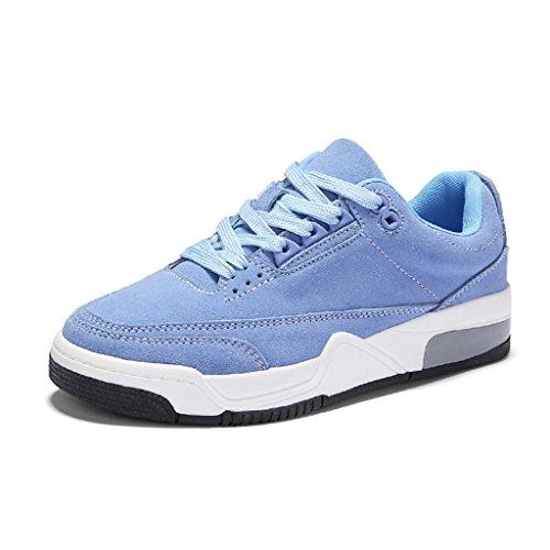 HWF Chaussures femme Printemps Casual Retro Épais Bottom Plate Running Chaussures de sport Chaussures Femmes ( Couleur : Blanc , taille : 38 ) Bleu