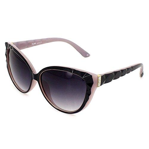 QUBE Women Cat Eye Sunglasses (Black)