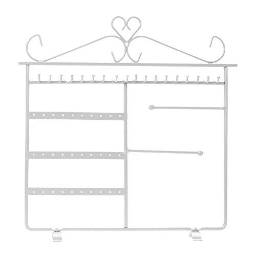 Demiawaking, portagioie a rastrelliera, in metallo, espositore per orecchini, collane e bracciali,, colore: white, cod. 120576