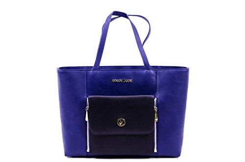 Armani Jeans Shopping bag woman Pvc/Plastic Patriot Blue/Black