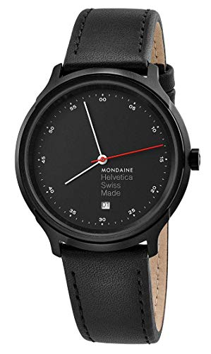 Mondaine Unisex-Adult Analog Quartz Watch with Leather Strap MH1.R2223.LB