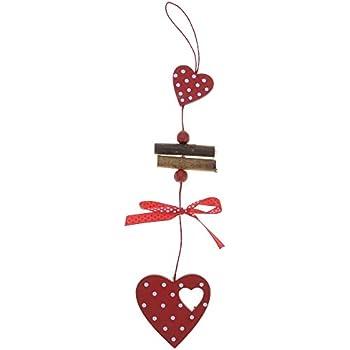 NEUF LOVE Coeur en Bois Noël mur pendaison décoration