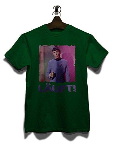 Laeuft 64 T-Shirt Dunkel Grün