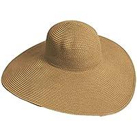 TININNA Donne delle Signore Eleganti Cappello da Sole Estate Cappello a  Tesa Larga Cappello della Paglia 788c7efc2e6a