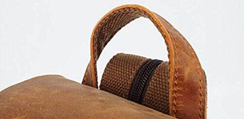 FZHLY Canvas Rucksack Retro Männer Und Frauen Schultern Tasche Camel