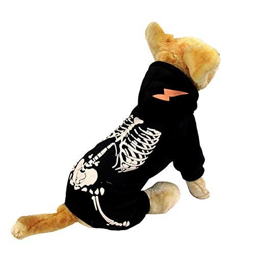 Pssopp Ropa Luminosa para Mascotas Traje de impresión de...