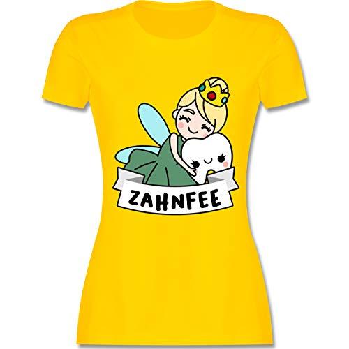 Karneval & Fasching - Zahnfee Kostüm - XL - Gelb - L191 - Damen Tshirt und Frauen - Gelbe König Kostüm