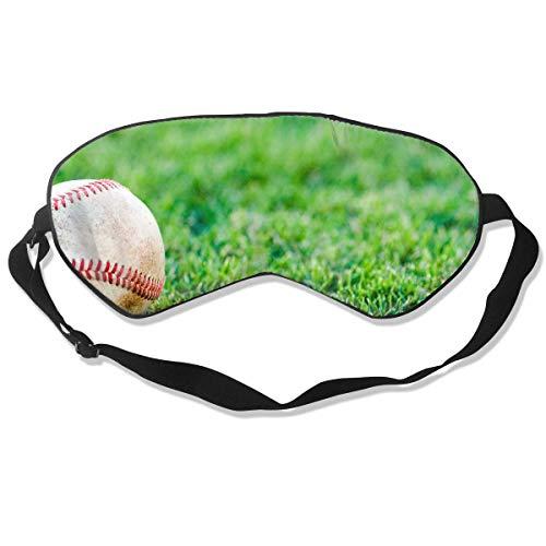 Custom Sleep Mask Baseball On Fake Green Grass Comfortable Sleep Eyes Covers Austin Baseball