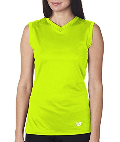 ? Damen NDurance? Athletic Workout T-Shirt mit V-Ausschnitt - Sicherheitsgr¨¹n - S (Workout Shirt Athletic)