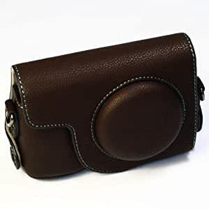 (Brown) PU Leather Camera Case for Ricoh GR Digital / GRD (136-2)