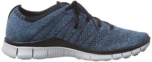 Nike - Free Flyknit Nsw, Scarpe da corsa Uomo Blu (Sqdrn Bl / Brght Mndrn-Chlrn Bl)
