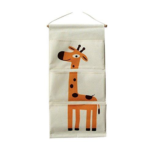 tshome Cartoon Tier Tuch Wand Tür Closet Organizer Aufbewahrungstasche zum Aufhängen Magazin Halter für Kindergarten Kinder Zimmer Décor - Stoff-magazin