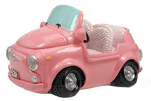 Kremers-Schatzkiste Pink Shopping Spardose Mini Auto Sparschwein Sparbüchse Führerschein Geschenk