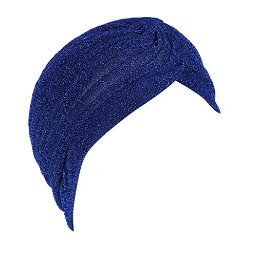 Lazzboy's Kopftuch Kopfbedeckung Muslimische Indische Turban-Hüte Turbanmütze Schlafmütze für Haarverlust, Chemo, Onesize(8,Kopfumfang: 58 cm)