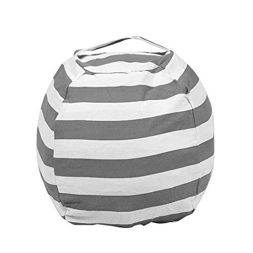 (Gfone Aufbewahrungstasche Gefüllte Speicher Tasche Stuhl Tragbare Kinder Kleidung Spielzeug Großer Sitzsack Stofftier Aufbewahrung Stuhl Plüschtier Organizer Perfekte Speicherlösungen Bean Bag (Grau))