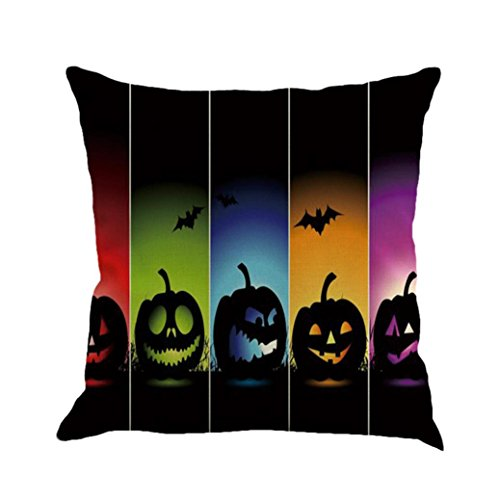 LSAltd Leinen Sofa Kissenbezüge, Happy Halloween Kissenbezug Home Decor (Kostüme Katze Halloween Tumblr)