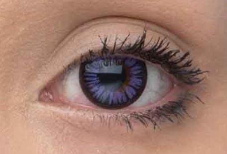 Eye Effect Farbige Kontaktlinsen ohne Stärekses Violett 1 Paar (2 Stück) ohne Stärke mit Linsenbehälter. Lila farbig Kontaktlisnen
