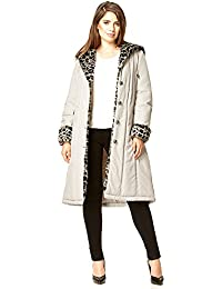 David Barry - Womens Hooded Padded Faux Fur Trim Winter Coat
