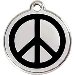 Médaille Chien RED DINGO Peace Noir 30mm