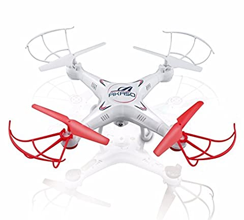 AKASO X5C 4CH 2.4GHz 6-Axis RC Quadcopter with HD Camera, Gyro Headless, 360-degree 3D Rolling Mode 2 RTF RC Drone ( Bonus MicroSD card & Blades Propellers included