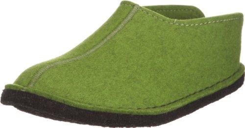 Haflinger Flair Smily, Pantoffeln, Unisex-Erwachsene, Filz aus reiner Wolle, Grün (Grasgrün 36), 42 EU