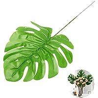 WINOMO 1pcs Monstera artificial falsa de plástico hojas Monstera Leaves Simulación accesorios para el hogar oficina decoración de boda fiesta casa