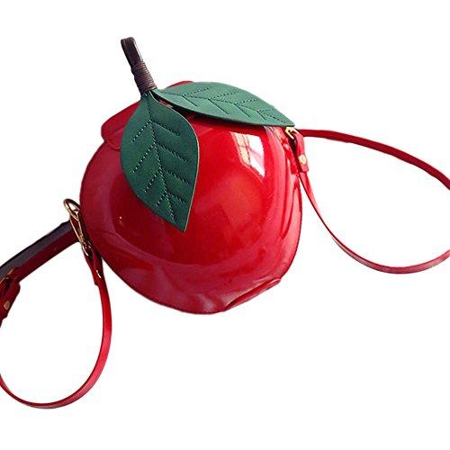 Vin beauty Apple Form Schultertasche Kartenhalter Handtasche Satchel Taschen Tasche (Mesh Abend-handtasche)