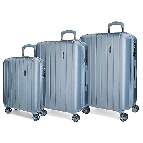 Movom Wood 5319463 Juego de Maletas, 75 cm, 220 Litros, Azul