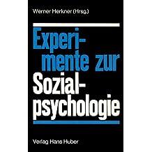 Experimente zur Sozialpsychologie