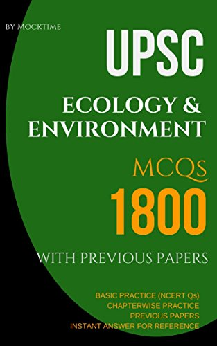 UPSC ECOLOGY & ENVIRONMENT 1800 MCQs from previous papers