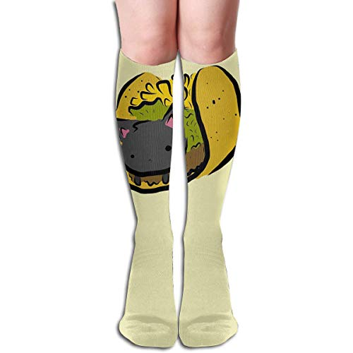 Gped Kniestrümpfe,Socken Tube High Keen Sock Boots Crew Taco Cat Compression Socks Long Sport Stockings Length 50CM