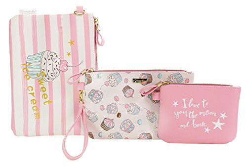 Camomille milano-set 3 enveloppes XL Pink Sweet Make Up
