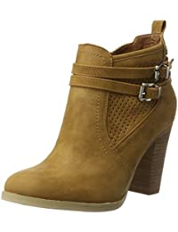 Xti Camel Pu Ladies Ankle Boots ., Chaussures femme