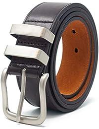 bdba8de4cbe Ossi 38mm Jean double boucle ceinture pour homme - noir