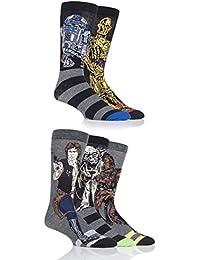 SockShop Mens 5 Pair Star Wars Yoda, Chewbacca, C3P0, R2-D2 and Han Solo Socks