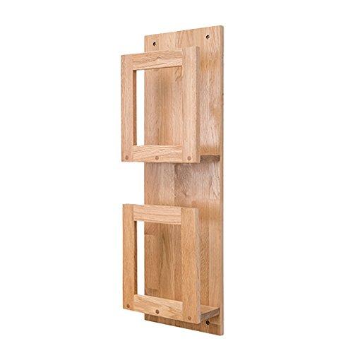 Multifunktions-Wandregal Wand Eiche Holz Lagerregale Bücherregal Trennwände Board Multi-Tiers Rack Modern Simplicity (Starke Belastbarkeit / Qualität) ( größe : 2 Tiers (72cm) ) (72 Bücherregal)