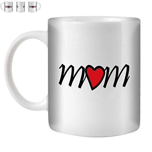STUFF4 Tee/Kaffee Becher 350ml/Mum/Happy Mother's Day/Weißkeramik/ST10 (Mothers Kaffee Becher Day)