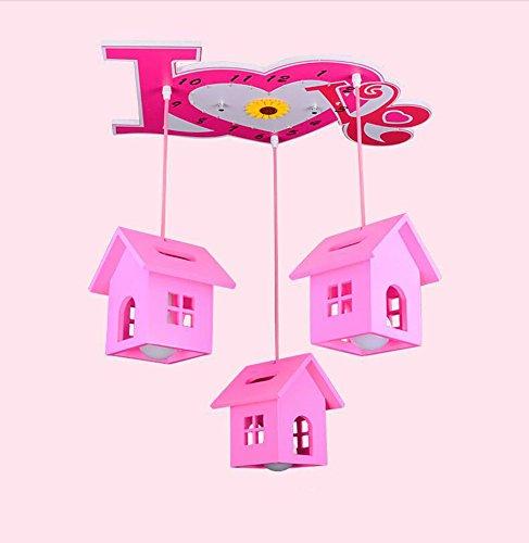 Lying Haus Kronleuchter, kreatives Led Kind Schlafzimmer Lichter Jungen und Mädchen Deckenleuchte Kindergarten Klassenzimmer Dekoration Lampen Und Laternen 3 Kopf E27 60 * 80cm finden ( größe : 60*80cm )