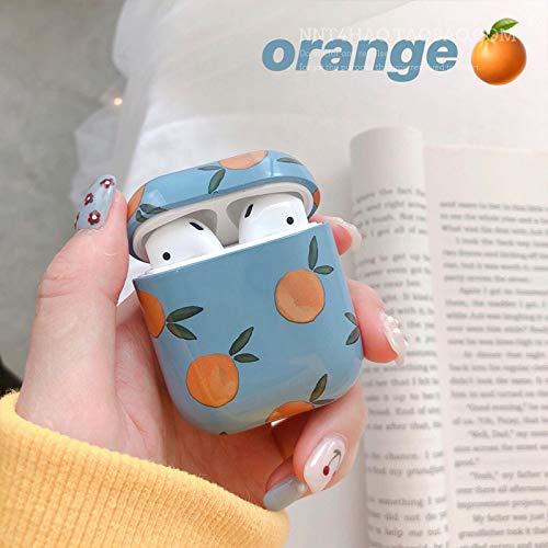 XIAOL Home Blauer Boden orange Apfel Bluetooth drahtloses Headset Set weibliche Jugend x süße Schutzhülle für Airpods Schutzhülle Süße Jugend