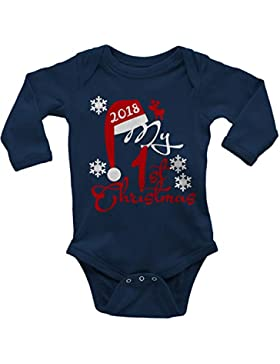 Mikalino Langarm Babybody My First Christmas 2018