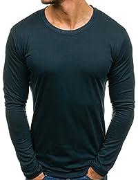 BOLF Camiseta De Manga Larga para Hombre Cuello Redondo 1A1 Motivo
