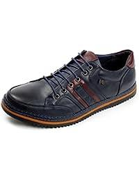hombre nuevo Informal A La Moda Zapatos Formales Estilo Formal Con Cordones Oficina Trabajo Boda Size UK - hombre, Marron, 11 UK / 45 EU