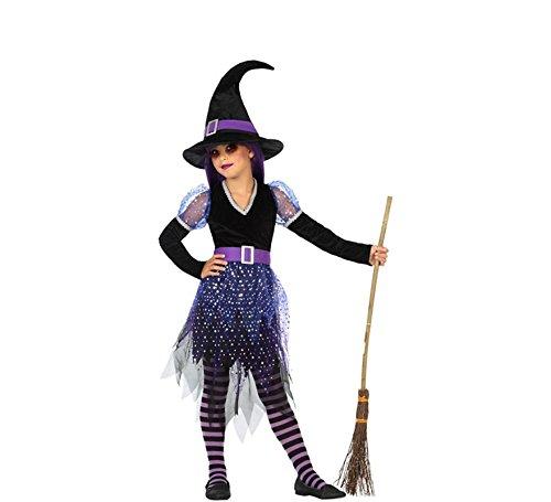 Atosa-55599 Atosa-55599-Disfraz Bruja para niña Infantil-Talla, Color violeta 5 a 6 Años (55599