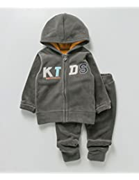 Kidofash Soft Fleece Top Bottom Set Tracksuit Sleepsuit Sleepware for 1 Year to 2 Years Old for Baby Girls and Baby Boys for Autumn and Winter Season