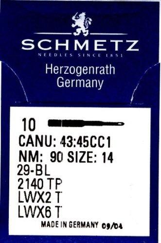 SCHMETZ 10 Maschinen- Nadeln gebogen* Blindstich System LWx6T / 29-BL Nm80