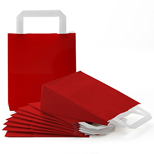 50 kleine rot dunkelrot weinrot bordeux Papiertüte Papiertasche Geschenktüte 18 x 8 x 22 cm Tüte Weihnachten Weihnachtstüte Verpackung Geschenk weihnachtlich Geschenk-Beutel