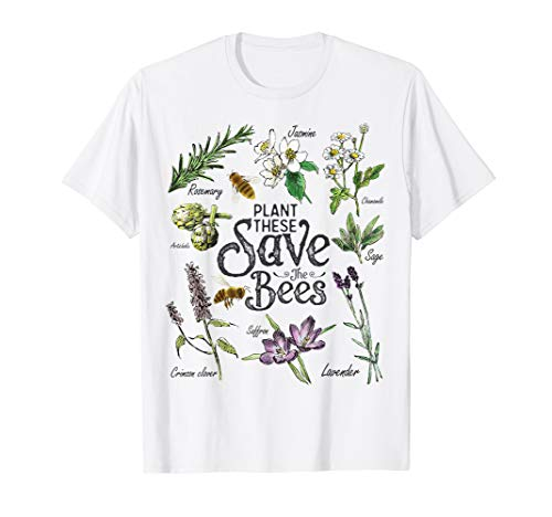 Plant These Save The Bees T-shirt Gelb Biene T-shirt
